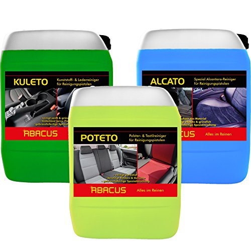 Abacus Tornador Limpiador Set (7361)–1x 5litros alcato + 1x 5litros kuleto + 1x 5litros poteto–gebrauchsfertige Limpiador Limpieza para Pistolas