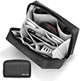 Tech Pouch Organizer - Jelly Comb Electronics Organizer Travel Cable Organizer Accessories Bag for Digital Gadgets, iPad Mini, Power Bank, Hard Drives, Mouse, Cables, Game Cards and More (Dark Grey)