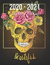 2020-2021 Two Year Planner: Skull With Beautiful Rose Cover | 2020 Planner Weekly and Monthly | Jan 1, 2020 to Dec 31, 202...