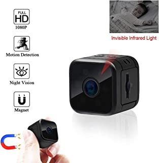 GXSLKWL HD Camera 1080P HD Spy Hidden Camera Camera with Night Vision Motion Detection Indoor Home Nanny Cam Security Came...