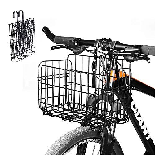 Enkrio Fahrradkorb für Vorder- und Rückfahrrad, klappbar, Netz, klappbar, hinten, Fahrradkorb für Studenten, Bergsteigen, Camping, Reiten