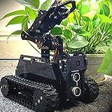 Adeept RaspTank WiFi Wireless Smart Robot Car Kit für Raspberry Pi 4/3 Modell B+/B, Panzerroboter mit 4-DOF-Roboterarm, OpenCV-Zielverfolgung, Videoübertragung, Raspberry Pi-Roboter mit PDF