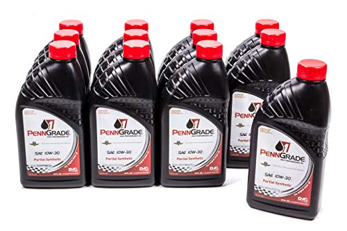 Brad Penn Oil 009-7150-12PK 10W-30 Partial Synthetic Racing Oil - 1 Quart Bottle, (Case of 12)