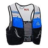 AONIJIE 2.5 L Unisex Ultra Running Chaleco de Piel Avanzada hidratación Pack para Trail Running Cycling Marathoner (Azul Negro -M/L)