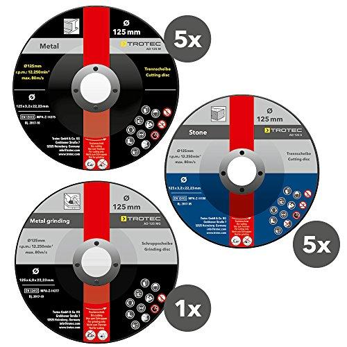 TROTEC Trenn- und Schruppscheiben-Set (11-teilig)