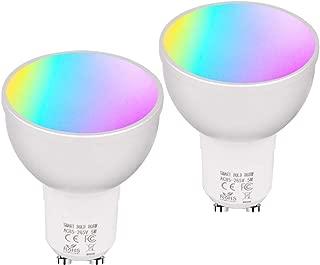 Phoenix Shine Smart WiFi Bulb GU10 5W Alexa,RGBW WiFi Smart Light GU10,Warm White Dimmable GU10 Smart LED 50W Equivalent,WiFi Bulb Remote Control,WiFi Spotlight,Works with Alexa Google Home (2 Pack)