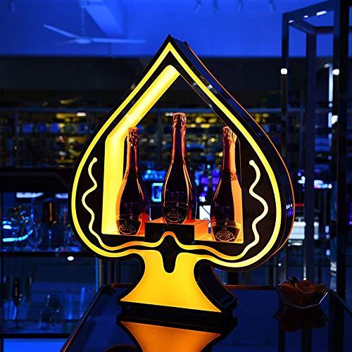 Weinregal Anzeige VIP Service Ace of Spade Champagne-Flaschen-Presenter glorifier for Nachtclub Lounge Hochzeit Bar KTV Holz (Shape Style : 01 Style)