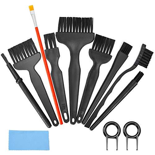 Bolatus - Set di 12 pennelli per la pulizia della tastiera, in nylon, manico in plastica ESD, in nylon, per la pulizia del PC, PC, PC, circuiti stampati e prese d'aria