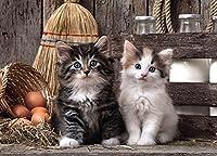 500ピース木製パズル大人の子可愛らしい猫家族のゲーム誕生日プレゼントサプライズギフトハロウィーンギフトクリスマスギフト女の子へのギフトF0v19s16