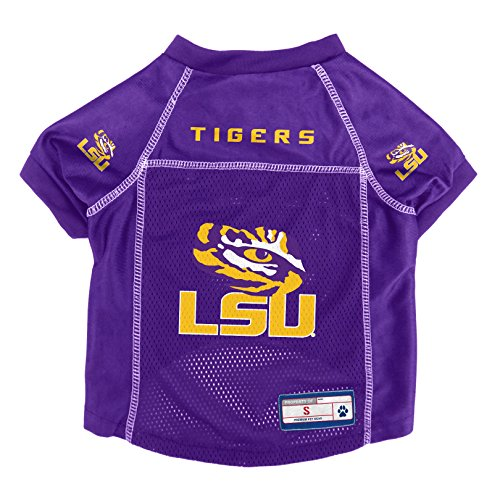 Littlearth NCAA LSU Tigers Pet Jersey, XS, Team Color (120134-LSU-XS)