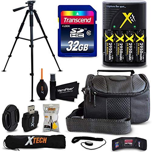 Accessory Kit for Nikon Coolpix B500, L840, L830, L820, L620, L610, L320, L32, L31, L30, L28, L26, L24, L22 Digital Camera Includes 32GB SD Memory Card, 4AA BTS + Charger, Case, 60