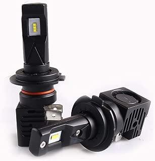 Sanvi 2PCS M3 Auto LED Headlight bulb 55W 6500k H4 H7 H11 9005 9006 Car LED Headlamp with ZES LED Chips Halogen headlight bulb Replacement coversion kits (H7)
