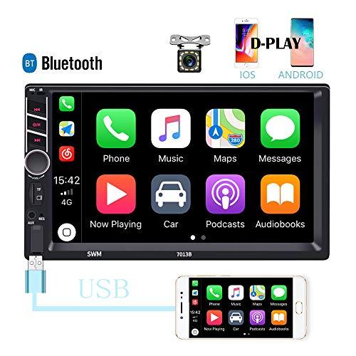"7/"" HD 2Din Car Radio Audio Player BT Mirror Link Aux-In USB TF Reversing Camera"