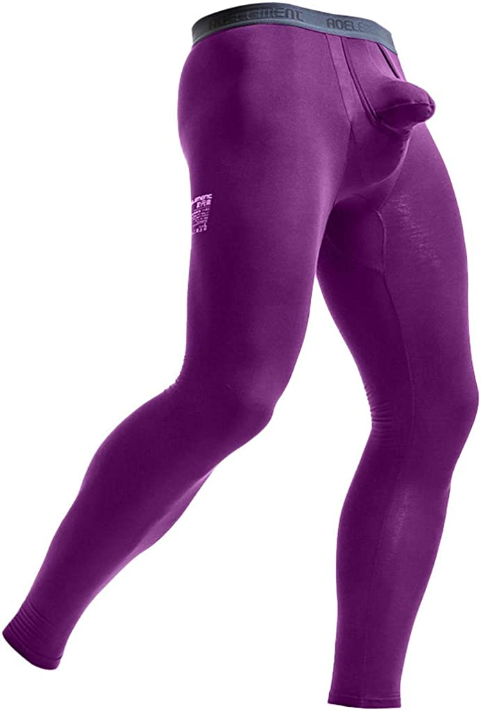 Men's Classic Midweight Waffle Thermal Underwear Bottoms Compression Baselayer Pants Leggings Tights Track Pants