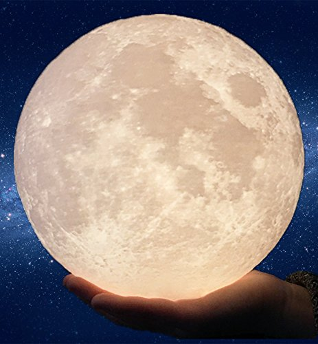 8.7'/22cm Gahaya 【Seamless】 Moon Lamp, Touch Control, Unibody Forming 3D Printed, Dimmable, Warm...