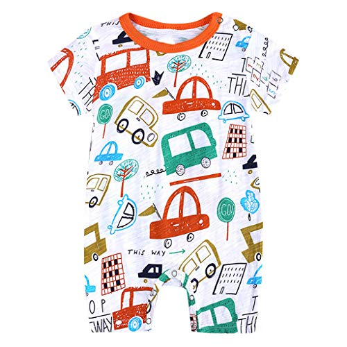 Great Features Of TIANRUN Baby Boys Girls Cartoon Giraffe Print Short Sleeve One Piece Romper Jumpsu...