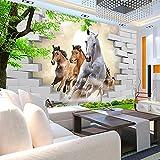 Unterbrochene galoppierende Pferdetapete der Wand Vlies Tapete - Moderne Wanddeko - Design Tapete - Wandtapete - Wand Dekoration