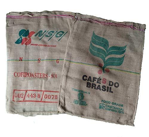 AlmaStore Sacchi di Juta da Caffe Usati - Confezione da 20 Pezzi - per la Decorazione della casa, Giardino, Divano - Sacco Brasile di Iuta caffè