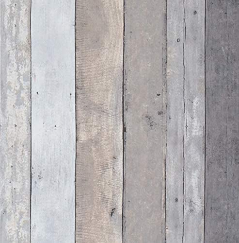 16 4Ftx17 7 Contact Paper Wood Gray Wood Wallpaper Stick and Peel Gray Wall Paper Roll Wood product image