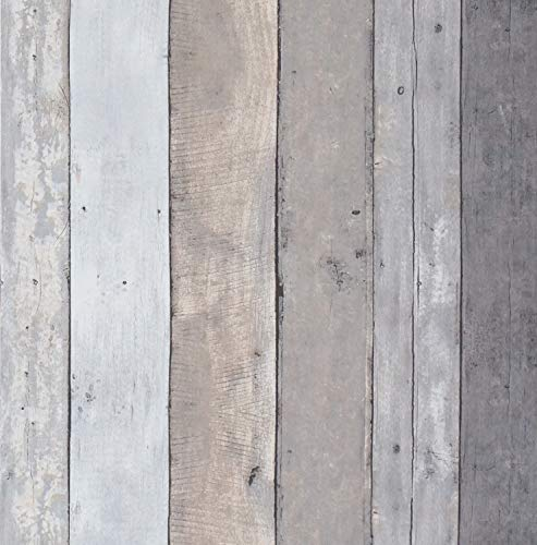 78.7''x17.7'' Contact Paper Wood Gray Wall paper Wood Peel and Stick Wallpaper Removable Self Adhesive Wood Plank Wallpaper Wood Grain Texture Film Vintage Shelf Drawer Liner Wall Covering Vinyl Roll