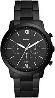Fossil Men's Neutra Chrono Quartz Stainless-Steel-Plated Strap, Black, 22 Casual Watch (Model: FS5474)