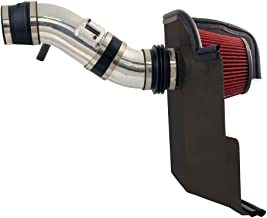Spectre Performance Air Intake Kit with Washable Air Filter: 2011-2014 Ford Mustang, 3.7L V6, Red Oiled Filter with Polished Aluminum Tube, SPE-9929