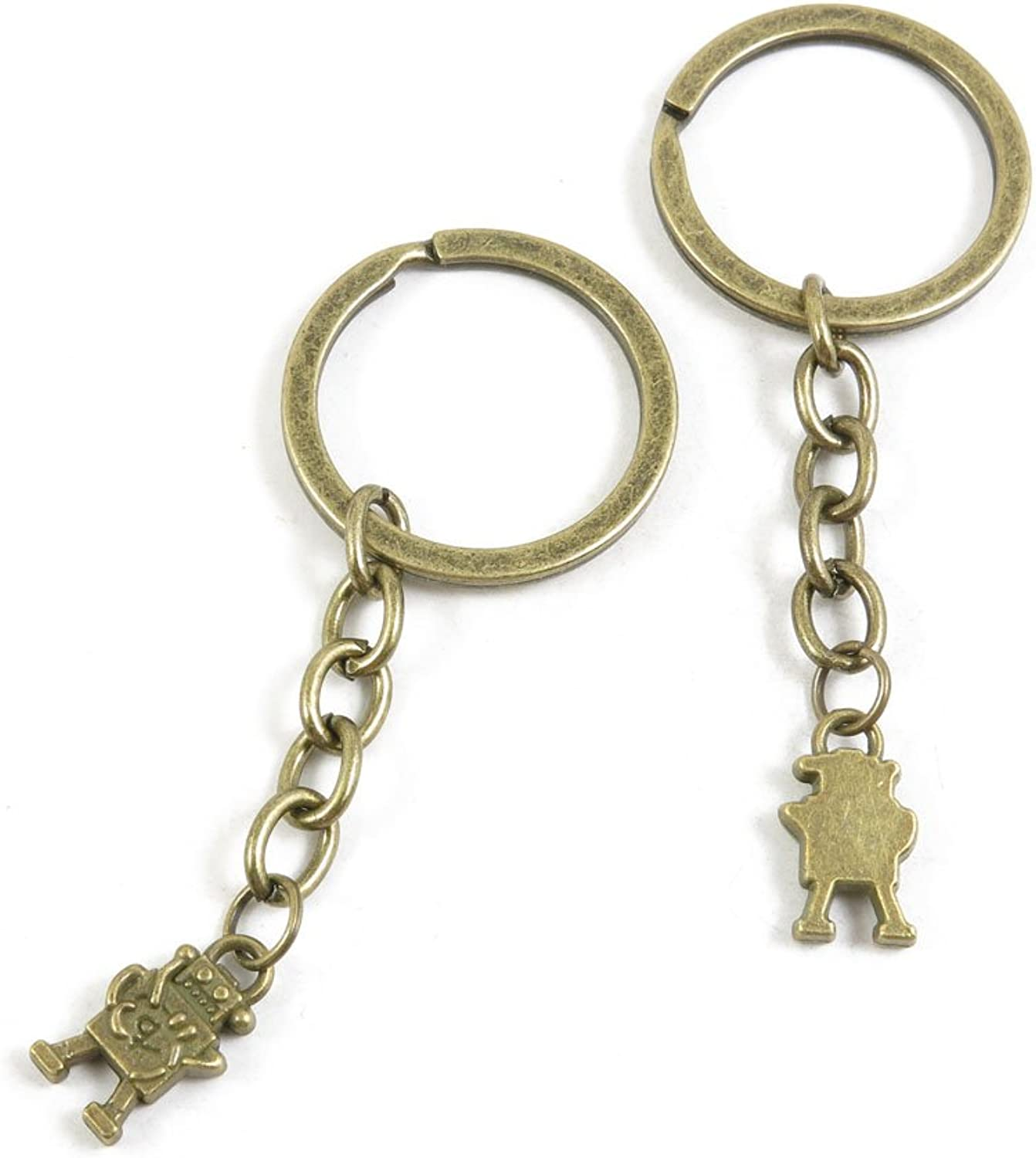 200 Pieces Fashion Jewelry Keyring Keychain Door Car Key Tag Ring Chain Supplier Supply Wholesale Bulk Lots N4HV7 Robot