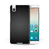 Stuff4 Phone Case for Huawei Honor 7i/ShotX Carbon Fibre
