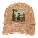 Photo de Yuanmeiju Tyler The Creator Dad Hat Vintage Cotton Washed Cowboy Cap Adjustable Baseball Cap Black