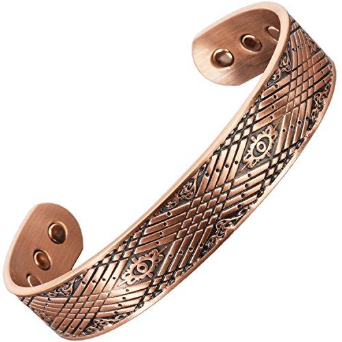 Holistic Magnets® Armreif xl Magnetarmband Herren aus reinem Kupfer Arthritis Schmerzen Tendinitis Handgelenk Gelenkheilung Armband +Geschenkbox (CM)-Keltischer Armreif (XL: Handgelenk 20,5-24cm)