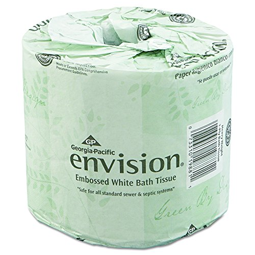 Georgia-Pacific Professional Envision 19880/01 Toilet Paper, Embossed, 550 Sheets Per Roll (Case of 80 rolls)