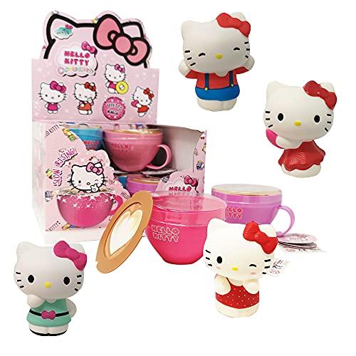 Sbabam s.r.l. Squishy Hello Kitty Cappuccino: Pack da 2 tazzine differenti