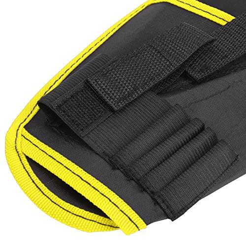 DAUERHAFT Bolsa de cinturón de Taladro eléctrico Bolsa de cinturón de Herramientas de Electricista Engrosada para almacenar Brocas y Sujetadores(Yellow Edge)