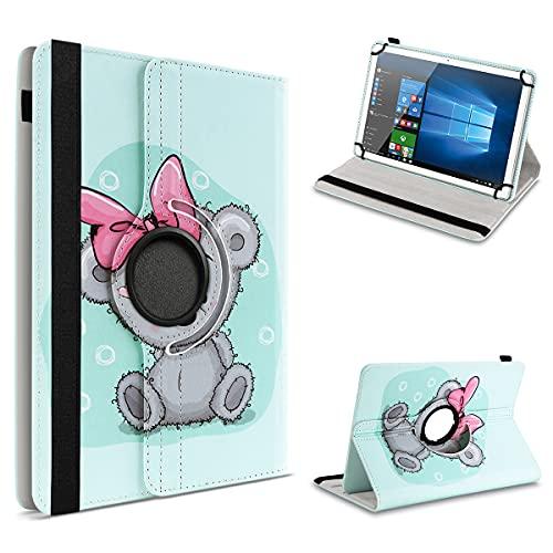 UC-Express Schutzhülle kompatibel für Archos 101 Platinum 3G Tablet Hülle Tasche Hülle Cover 360° Drehbar, Farbe:Motiv 13