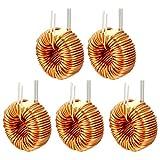 Sourcingmap 5PCS monostrato orizzontale magnetica toroidale induttore filo vento ferita 50UH induttanza 20A bobina