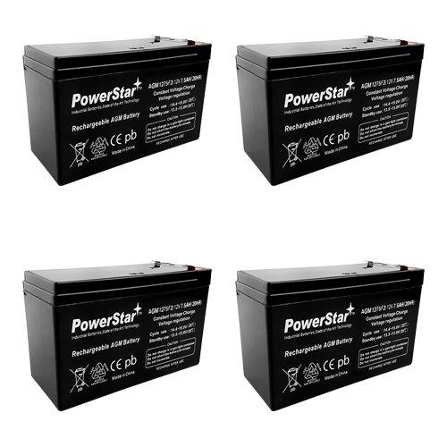 4 Pack - SLA Battery for Cyberpower 12V 7ah 8ah B-613 SLA1075 7.5ah AGM 12 V OLT