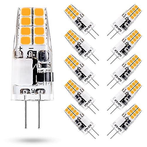 ONSTUY 3W Lampadine LED G4,Equivalente 35W Lampada Alogena G4,3000K Bianco Caldo,300 Lumen,AC/DC 12V Lampadina G4,Non dimmerabile,10 Pezzi