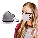 Shero 6-Layer Copper-Infused Face Mask With Nose Wire, Washable and Breathable Filtered Face Mask, (Gray, M/L)