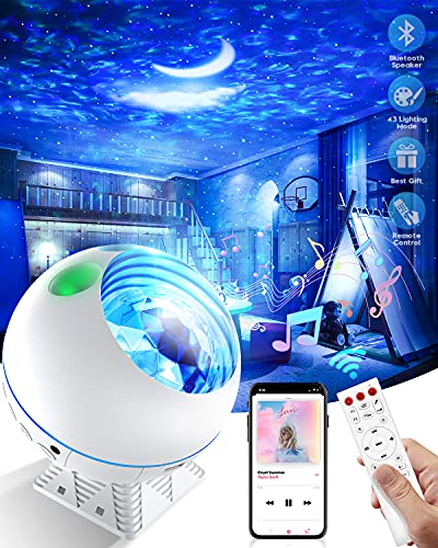 Galaxy Projector Star Projector Night Light Projector with Bluetooth Speaker Sky Room Projector Light Galaxy 360 Pro for Bedroom Remote Control 43 Lighting Modes Birthday Gifts for Kids Teens Adult