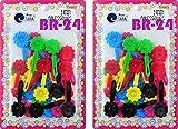 Tara Girls Self Hinge Plastic Bow Hair Barrettes Selection Pack Of 2 (BR24)