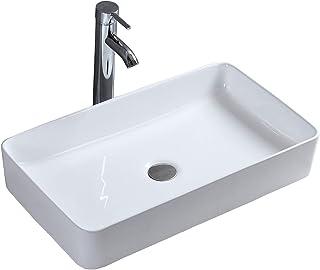 Lavabo de Cerámica Lavabo de Alta Calidad Blanco Lavabo