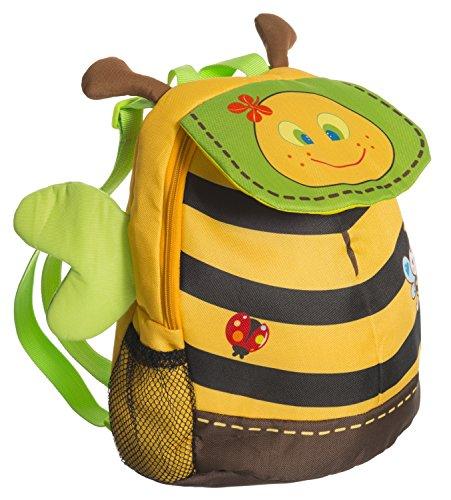 Bieco Kinderrucksack Biene | ca. 38x15x36 cm | Kindergartenrucksack | Rucksack Kinder | Wanderrucksack Kinder | Mini Rucksack | Rucksack Kindergarten | Rucksack Mädchen | Rucksack Jungen | Rucksäcke