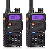 BAOFENG UV-5X GMRS Radio, GMRS Repeater Capable Two-Way Radio, with NOAA Weather Alerts & Scan, Long Range Rechargeable Handheld Radio, 1 Pair