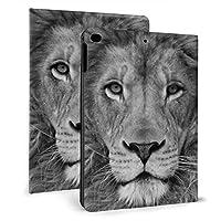 クールなライオン IPADレザーケース タブレットケース 可愛い 傷防止 耐衝撃 三つ折タイプ 人格 軽量 薄型