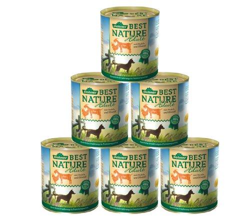 Dehner Best Nature Hundefutter Adult, Ziege und Huhn, 6 x 800 g (4.8 kg)