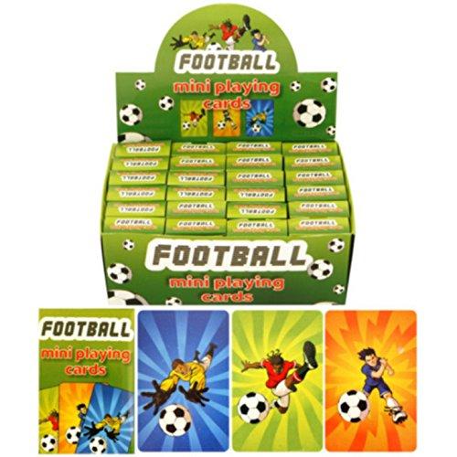 Henbrandt pour enfants/enfants Football Design Mini Cartes à jouer (boîte de 24) - - Taille unique