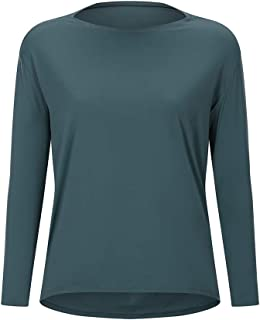 Raroauf Long Sleeve Workout Shirts for Womens Loose Fit Yoga Shirts,Casual Fall Tops Shirts,Activewear Tops