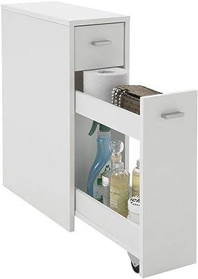 L52,3 x H52,5 x P27,9 cm PEGANE Meuble sous lavabo 2 Portes Coloris Blanc