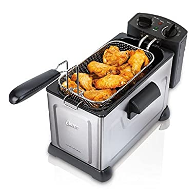 Oster CKSTDFZM37-SS1 Professional Style Deep Fryer, Stainless Steel
