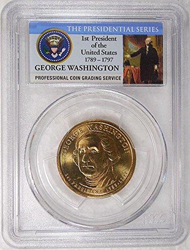 2007 P Pos. A George Washington Presidential Dollar PCGS MS 65 FDI Presidential Label Holder